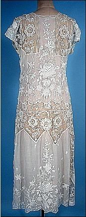 1920's white net gauze dress--yes, another one, but this one is so beautiful, I couldn't resist!