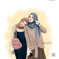 Friend Cartoon, Friend Anime, Girl Cartoon, Cartoon Art, Cute Pastel Wallpaper, Anime Scenery Wallpaper, Arab Girls, Muslim Girls, Muslim Women