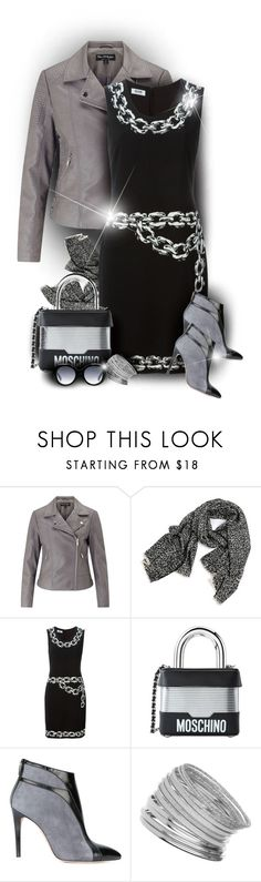 """""""Silver Lining"""" by moomoofan1972 ❤ liked on Polyvore featuring Miss Selfridge, Boutique Moschino, Moschino, Francesca Mambrini, Gucci, polyvorecommunity, polyvoreeditorial and stylingideas"""
