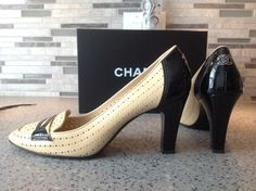 Chanel Perforated Beige/Black Pumps. Get the must-have pumps of this season! These Chanel Perforated Beige/Black Pumps are a top 10 member favorite on Tradesy. Save on yours before they're sold out!