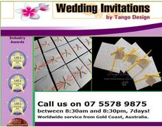 If you are planning a beach wedding, then your wedding invitations should be printed in the same theme. At Tango Design, we provide beach wedding invitations for our customers in Australia and across the oceans.