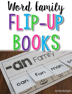 Word Family Flip-Up Books - A fun way to practice CVC words!