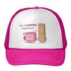 We belong together, Cute Couple in Love Hats. #sweetlove #humor #pun