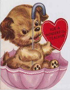 Vintage For A Wonderful Teacher Puppy In An by poshtottydesignz