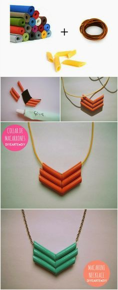 COLLAR DE MACARRONES | MACARONI NECKLACE DIY                                                                                                                                                                                 More