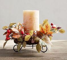 Harvest Botanical Candle Holder Ring #potterybarn
