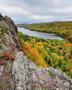 """lake of the Clouds"" Porcupine Mountain Wilderness State Park, Michigan. One of the most beautiful places on earth."