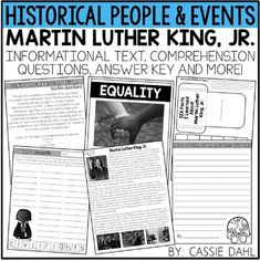 Martin luther king jr activities for third grade