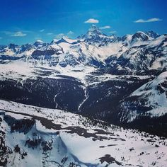 Boom! View from Top of the World at Sunshine was insane today #sunshinevillage #thankyoucanada