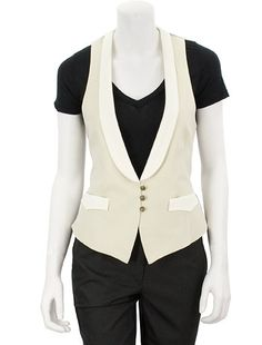 Rag & Bone Soiree Vest in Cream in White | Kevin From Work