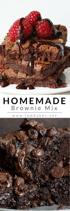 Are you a sucker for a good brownie? Create your own chewy brownie with this easy homemade recipe mix! If you want that fudgy and chewy brownie, try this easy recipe mix to make the best brownie ever! Visit @iambaker for more dessert recipes! #iambaker #iambakerdessert