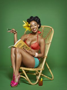 Love, love, love, loooove this!! Tropical Retro Pin-Up (Odette Simons styled it - who photographed?)
