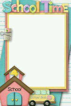 Back To School Picture Frames School Picture Frames, School Frame, Back To School Pictures, School Photos, School Border, Boarders And Frames, Kids Background, School Scrapbook, Scrapbook Frames