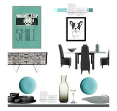 """Smile'"" by dianefantasy ❤ liked on Polyvore featuring interior, interiors, interior design, home, home decor, interior decorating, Fornasetti, Dot & Bo, Riedel and Hotel Collection"