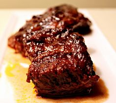 crock pot short ribs. made these today and they came out AMAZING. they just fall apart on the plate. delicious.
