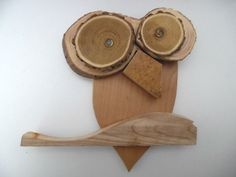 Gufo artigianale legno intagliato pregiato di Artigianalmentelegno