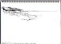 alvaro siza / casa da chá Drawing Sketches, Drawings, Sketching, Personal Photo, Architectural Sketches, Sheep, Inspire, Photos, House