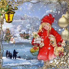 Merry Christmas Gif, Holiday Gif, Christmas Scenery, Whimsical Christmas, Christmas Love, Christmas Wishes, Christmas Pictures, Christmas Greetings, Winter Christmas