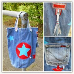 upcycling Jeans-Tasche