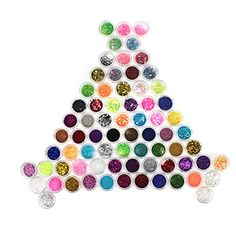 Joly 72 Color Nail Art Dust Glitter Powder DIY Decoration Nail Art Salon Tool Set 72 Color -- You can get more details by clicking on the image.Note:It is affiliate link to Amazon.