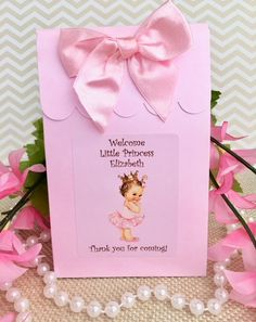 30 princess bookmarks for baby girl shower personalized with baby name princess theme baby shower favors personalized baby shower favors