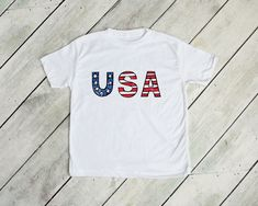 Watercolor USA KIDS TEE- 4th of july shirt for kids