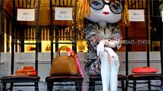 Henri Bendel goes squarely for humour in its windows – via a giant doll bearing more than a passing resemblance to US Vogue editor Anna Wintour in front-row mode.