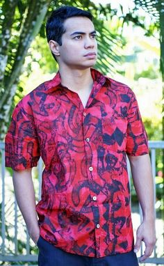 Janet's - TAV Short Sleeve Medium RedBlack, 112.50 AUD (http://www.janetssamoa.com/tav-short-sleeve-medium-redblack/) Step out with Island Flair in this TAV Cotton Mull Shirt.  Ideal for tropical climates, this TAV cotton mull shirt will keep you cool, comfortable and looking great the whole day.  Looks great with an ie faitaga for a more formal look.