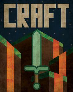 Minecraft CRAFT Propaganda Poster by Justonescarf on Etsy, $12.50