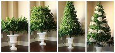 the case for the small Christmas tree Potted Christmas Trees, Miniature Christmas Trees, Christmas Love, Xmas Tree, Christmas Ideas, Holiday Fun, Holiday Decor, Diy And Crafts, Seasons