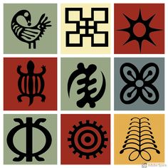 Adinkra Symbols and Meanings: 122 African Symbols & Pronunciations African Design, African Art, Adinkra Symbole, Symbols And Meanings, Mayan Symbols, Viking Symbols, Egyptian Symbols, Viking Runes, Ancient Symbols