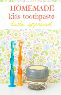 Homemade doTERRA Essential Oil sKids Toothpaste Recipe