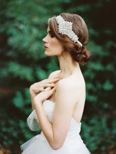 up do- braided bun-crystal headband-bridal collection....