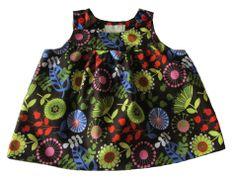 Robe à bretelles en coton Michael Miller - 6 mois : Mode Bébé par kikoune-kids