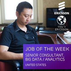 Are you an #expert in analyzing #bigdata and creating mathematical models? We're currently hiring Senior Consultants in the areas of Big Data and Analytics! https://jobs.ericsson.com/job/Senior-Consultant-Big-DataAnalytics/221253800/
