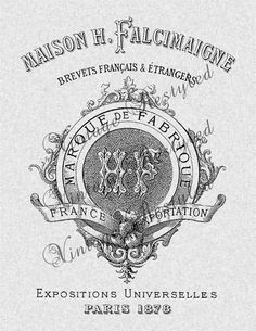 Vintage French Label Iron On Transfer Digital by VintageRestyled, $2.00
