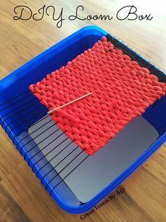 DIY Weaving Loom DIY Weaving Loom The post DIY Weaving Loom appeared first on Weaving ideas. Weaving Loom Diy, Pin Weaving, Rug Loom, Inkle Loom, Yarn Crafts, Fabric Crafts, Diy And Crafts, Weaving Projects, Diy Projects