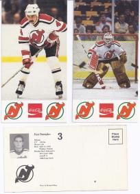 """NJ Devils 1983-84 Post Card (Lot of 47) """"FREE SHIPPING"""""""