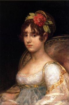 Francisco de Goya | Retrato de María Ana Silva-Bazán y Waldstein, Condesa de Haro, 1802-03