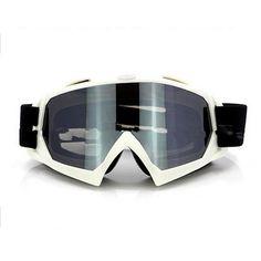 Adult Colourful double Lens Snow Ski Snowboard Goggles Motocross Anti-Fog Fashion Eye Protection White Silver