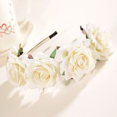 New Flower Garland Floral Bride Headband Hairband Wedding Party Prom Festival Decor Princess Floral Wreath Headpiece BZ678647-in Hair Accessories from Women's Clothing & Accessories on Aliexpress.com | Alibaba Group