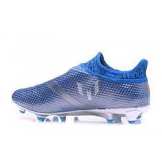 929ab38abd Botas De Futbol Adidas - Baratas 2017 Adidas Messi 16 Pureagility Plata  Azul Zapatos De Soccer