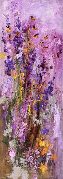 Just #SOLD #Lavender and #Bees to collector in #Nashville #Tennessee #Modern #Impressionism #Oil #Painting , Original Painting - Ginette Fine Art,