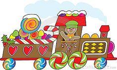 cartoon gingerbread train