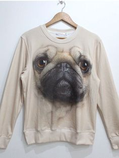 Pugs + sweatshirt = Glamour shut up