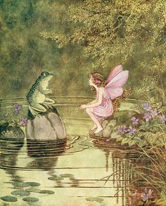 """IDA RENTOUL OUTHWAITE , illustration from """"The Little Green Road to Fairyland"""" ♥"""