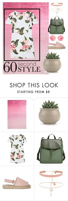"""""""T-shirt dress summer style"""" by sammy-sue-smith ❤ liked on Polyvore featuring Designers Guild, MANGO, Skagen, 8, Ray-Ban, tshirtdresses and 60secondstyle"""