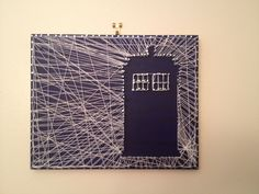 Tardis string art I made, inspired by a tree string art thing I found on Pinterest