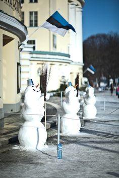 The Estonian National Opera winter guards, Tallinn, Estonia.  ...saved by Vivikene