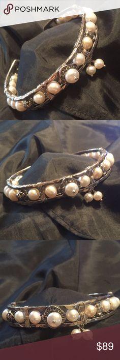 Silpada Bracelet Silpada Pearl Cuff Bracelet.   NWOT Silpada Jewelry Bracelets